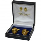 REME Indented Gilt Cufflinks