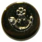 Light Infantry Mounted Button, Blazer, Bright Gilt & Dead Silver Mount (22L)