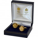 RLC Gold Indent Cufflinks