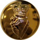 Irish Guards Button, Gilt (22L)