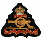Royal Artillery Blazer Badge, GV1R, Wire