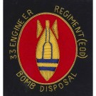 Royal Engineers Blazer Badge, Explosive Ordnance Disposal, E11R, Wire
