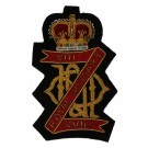 13th/18th Royal Hussars Wire Blazer Badge