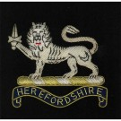 Herefordshire Regiment Wire Blazer Badge