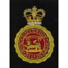 Royal Leicesters Blazer Badge,  Wreath, Wire