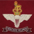 Parachute Regiment Wire Blazer Badge - On Maroon