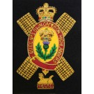 Queens Own Cameron Highlanders Wire Blazer Badge