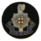 Royal Sussex Blazer Badge, Small, Wire