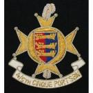 Cinque Ports / Queens / Royal Sussex Blazer Badge, Wire