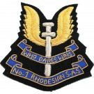 Rhodesian Special Air Service Blazer Badge, Wire
