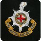 Royal Sussex Blazer Badge, Silk