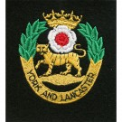 Yorks & Lancs Blazer Badge, Silk