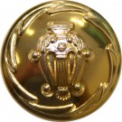 Band Button, Lyre, Gold Anodised (36L)