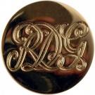 Royal Dragoon Guards Button, Gilt (30L)