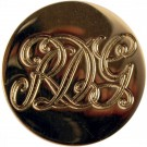Royal Dragoon Guards Button, Gilt (22L)