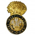 Royal Welch Fusiliers Cap Badge Style Lapel Badge