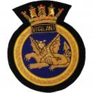 HMS Vigilant Blazer Badge, Wire
