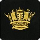 RN Gold Coronet Silk Blazer Badge