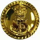 Royal Navy Button, Gilt, Long Shank, Officer (26L)