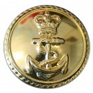 Royal Navy Button, Gilt (37L)