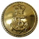 Royal Navy Button, Anodised (37L)