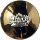 Royal Navy Button, Mounted, Domed (Small)