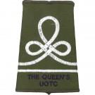 Queens UOTC Rank Slides, Olive Green, (JUO)
