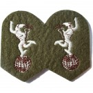 R.Signals Mercury Khaki Worsted Badge