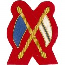 Signaller Gold On Red No.1 Badge