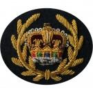 RQMS Gold On Navy Badge