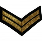 Corporal Gold On Navy Rank Chevron