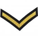 Lance Corporal Gold On Navy Rank Chevron