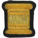 Drummer Gold On Navy Badge