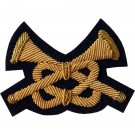 Trumpeter Gold On Navy Badge