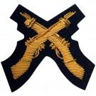 Skill At Arms Gold On Navy Badge