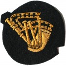 Piper Gold On Navy Badge