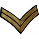 Corporal Gold On Navy No.1 Rank Chevron