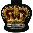 C/Sgt Gold On Black Badge