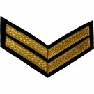 Corporal Gold On Black Rank Chevron