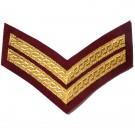 Corporal Gold On Medical Cherry Rank Chevron
