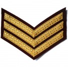 Sergeant Gold On PARA Maroon Rank Chevron