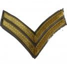 Corporal Gold On Grebe Grey Rank Chevron