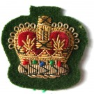 C/Sgt Gold On Grass Green Badge