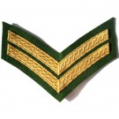 Corporal Gold On Grass Green Rank Chevron