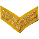 Corporal Gold On Cavalry Yellow Rank Chevron
