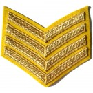4 Bar Gold On Cavalry Yellow Rank Chevron