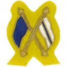 Signaller Gold On Cavalry Yellow Badge