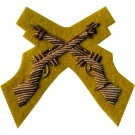 Skill At Arms Gold On Cavalry Yellow Badge