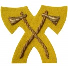 Pioneer Gold On Cavalry Yellow Badge