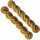 Shoulder Cords Gold 2 Ply Navy